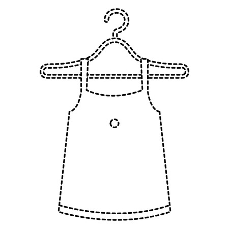 femenine blouse in hook vector illustration design