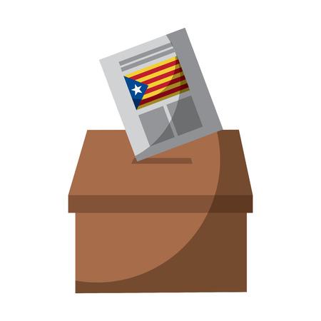 Cataluña, bandera, independencia, voto, icono, imagen, vector, ilustración, diseño Foto de archivo - 90402029