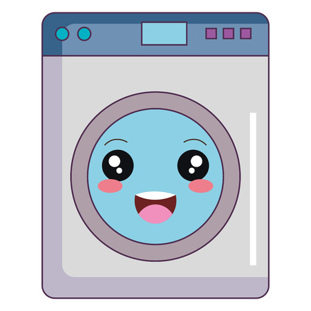 washer machine kawaii character vector illustration design Illustration
