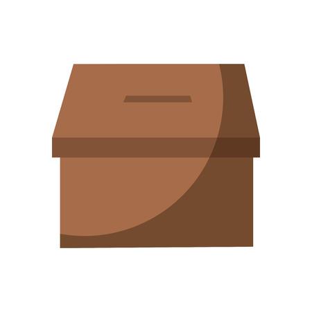 투표 상자 투표 아이콘 이미지 벡터 일러스트 디자인 스톡 콘텐츠 - 90402043