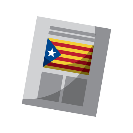 catalunya flag independence vote icon image vector illustration design Foto de archivo - 90402045