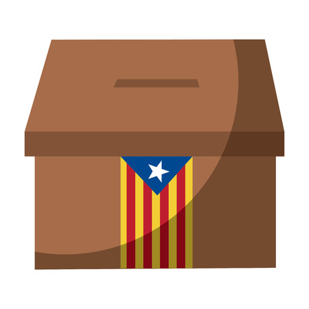 Cataluña, bandera, independencia, voto, icono, imagen, vector, ilustración, diseño Foto de archivo - 90402063