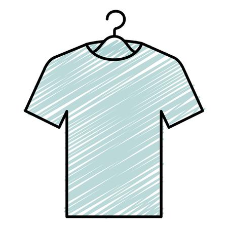 overhemd het hangen in ontwerp van de haak het vectorillustratie
