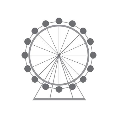 ontwerp van de het beeld het vectorillustratie van het ferriswielpictogram Stock Illustratie