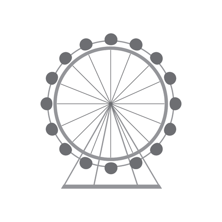 ferris wheel icon image vector illustration design