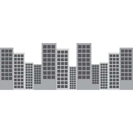 city skyline buildings icon image vector illustration design Illusztráció