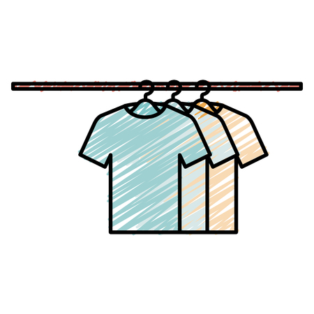 tshirts hanging in hook vector illustration design Фото со стока - 90402891