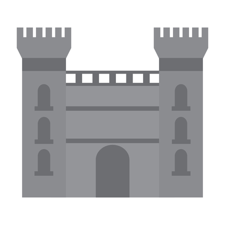 castle building icon image vector illustration design