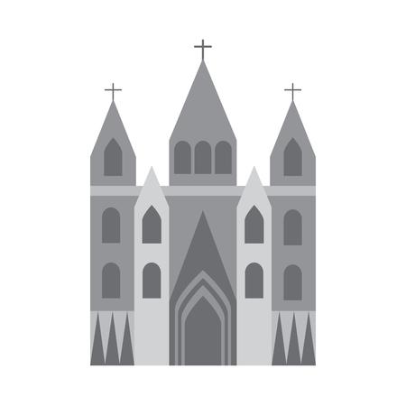 교회 대성당 아이콘 이미지 벡터 일러스트 디자인 일러스트