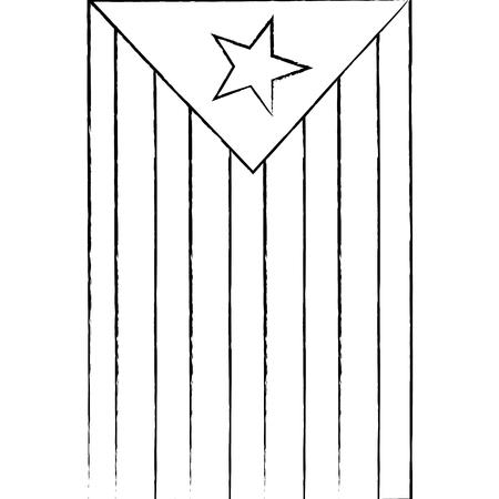星と縞模様のアイコン画像ベクトルイラストデザインのフラグ