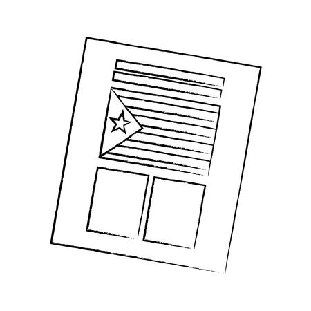 カタルーニャフラグ独立投票アイコン画像ベクトルイラストデザイン