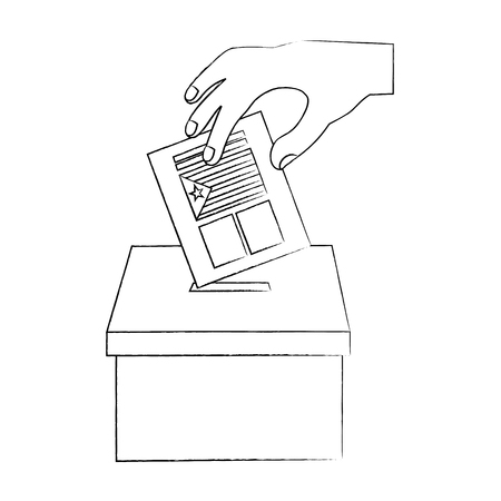Cataluña, bandera, independencia, voto, icono, imagen, vector, ilustración, diseño Foto de archivo - 90399644