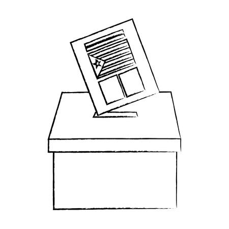 catalunya flag independence vote icon image vector illustration design Foto de archivo - 90399667