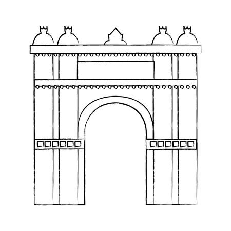 castle building icon image vector illustration design Stock Vector - 90402109