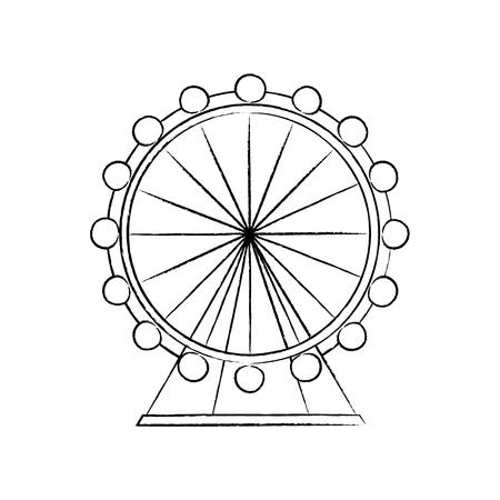 観覧車アイコン 画像ベクトル イラストデザイン  イラスト・ベクター素材