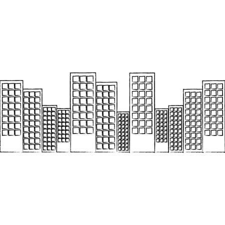 도시 스카이 라인 건물 아이콘 이미지 벡터 일러스트 레이 션 디자인