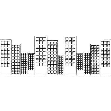 city skyline buildings icon image vector illustration design
