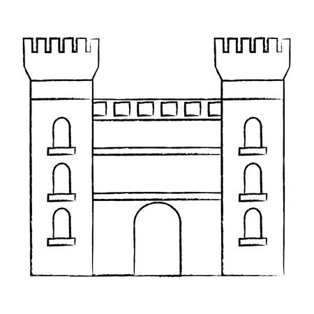 castle building icon image vector illustration design Stock Vector - 90399814