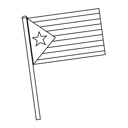 flag with star and stripes icon image vector illustration design