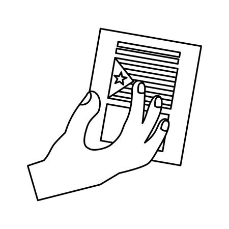 Projeto de ilustração de vetor de imagem de ícone de voto de independência de bandeira de catalunya Foto de archivo - 90400023