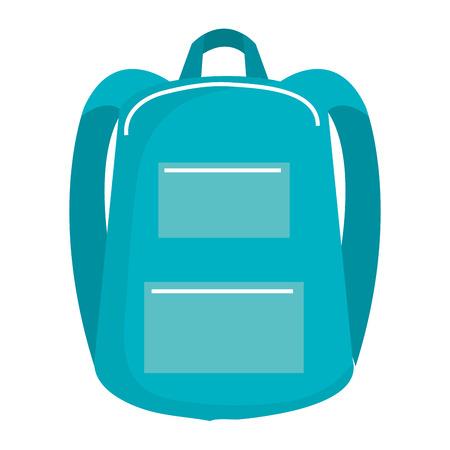 school bag isolated icon vector illustration design Stock Vector - 90400046