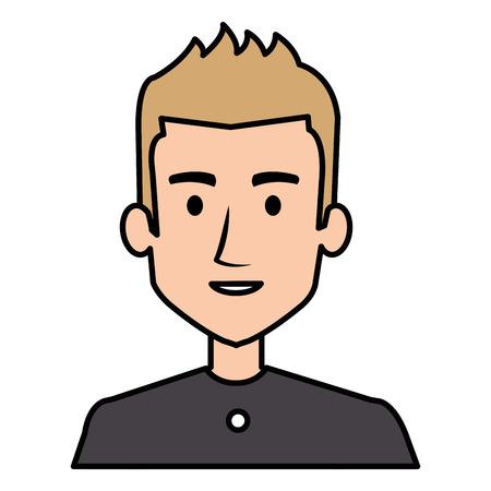 젊은 남자 아바타 캐릭터 벡터 일러스트 디자인 스톡 콘텐츠 - 90400307