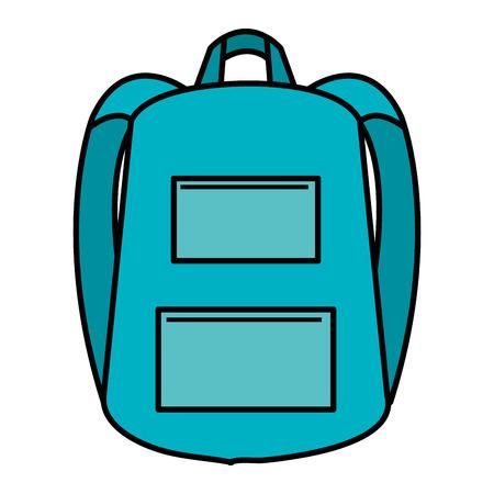 학교 가방 격리 된 아이콘 벡터 일러스트 디자인