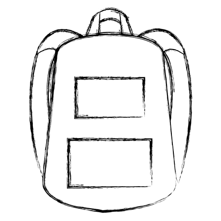 school bag isolated icon vector illustration design Stock Vector - 90405671