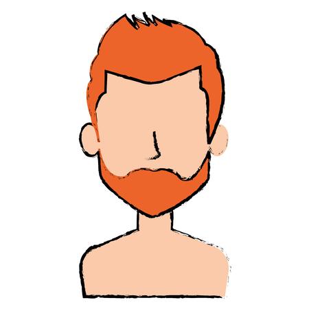young man shirtless avatar character vector illustration design Stock Vector - 90406564
