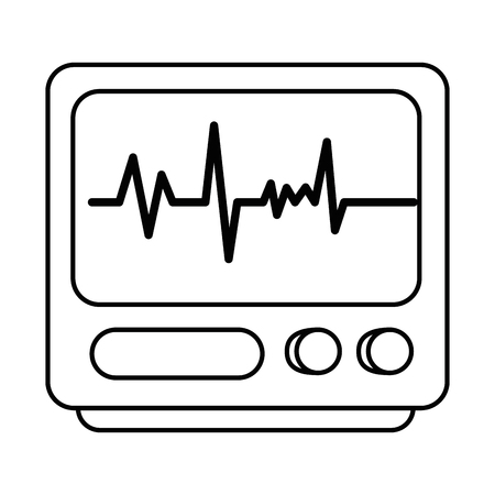 electrocardiograph machine isolated icon vector illustration design