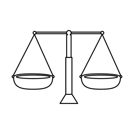 balans maatregel geïsoleerd pictogram vector illustratie ontwerp