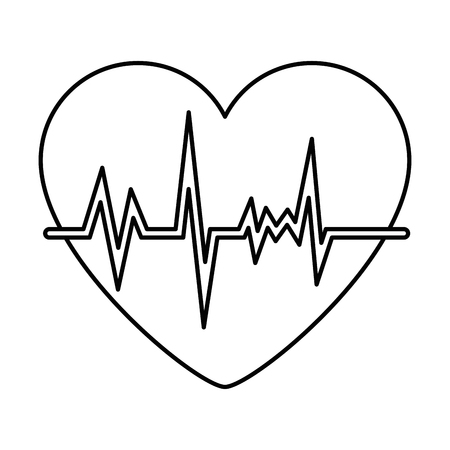 heart with pulse icon vector illustration design Illustration