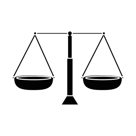 balance measure isolated icon vector illustration design Иллюстрация