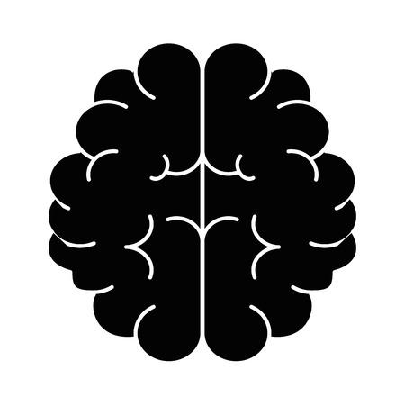 brain human isolated icon vector illustration design Ilustração