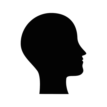 human profile isolated icon vector illustration design  イラスト・ベクター素材