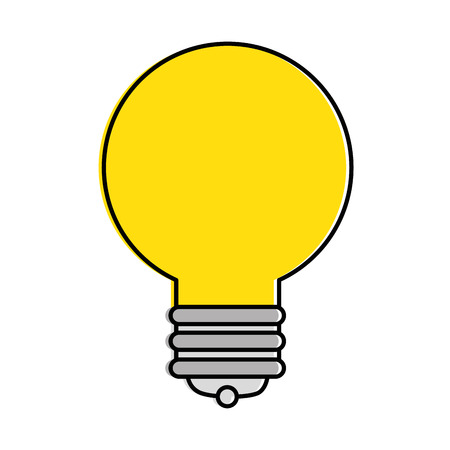 Birne Licht isoliert Symbol Vektor-Illustration , Design , Standard-Bild - 90406759