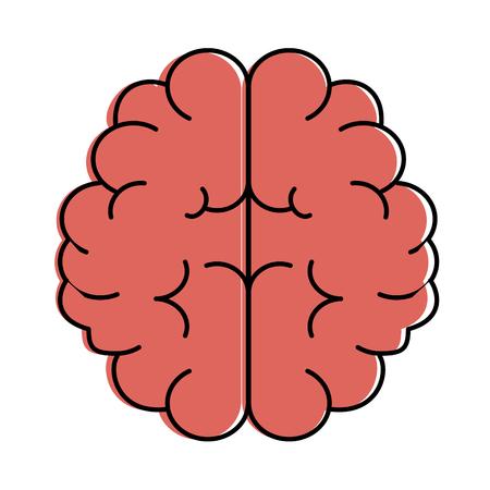 脳人間孤立アイコンベクトルイラストデザイン