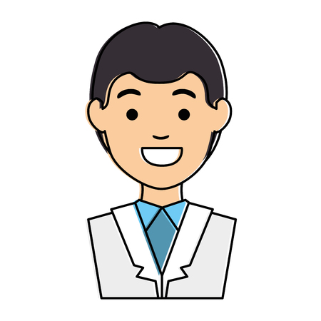 doctor character isolated icon vector illustration design