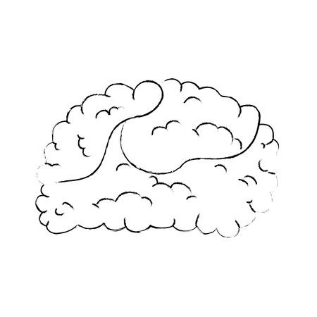 brain human isolated icon vector illustration design Vettoriali