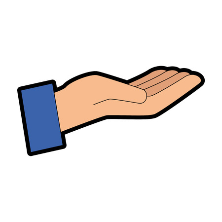 Hand human receiving icon vector illustration design