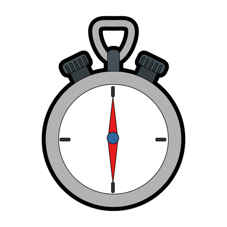 Chronometer device isolated icon vector illustration design Illustration