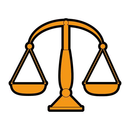 Balance measure isolated icon vector illustration design