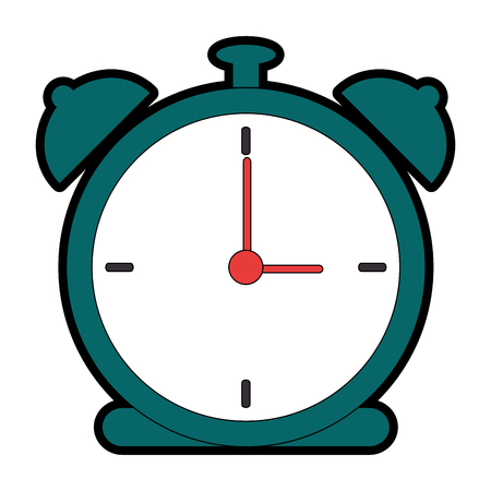 Alarm time clock icon vector illustration design Stok Fotoğraf - 90451656