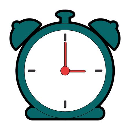Alarm time clock icon vector illustration design Illustration