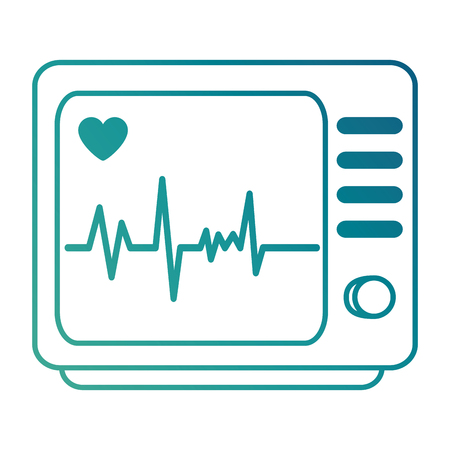Electrocardiogram machine isolated icon vector illustration design