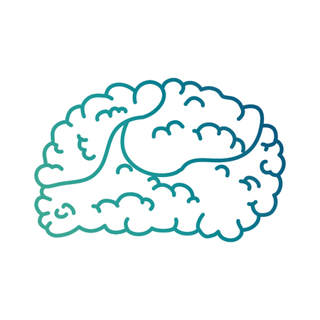 Brain human isolated icon vector illustration design Иллюстрация