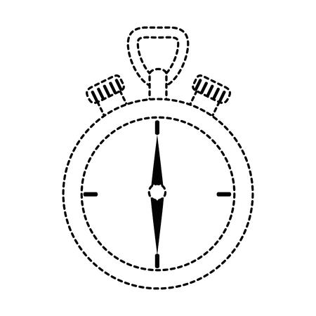Chronometer device isolated icon vector illustration design 向量圖像