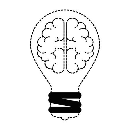 Bulb light with brain vector illustration design Vectores
