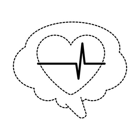 Speech bubble with heart vector illustration design