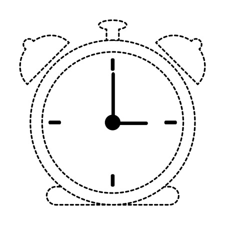 Alarm time clock icon vector illustration design 向量圖像